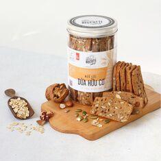Bánh hương vị ngũ cốc Dừa hữu cơ BISCOTTI RED BRICK BAKERY