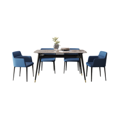 Bộ bàn ghế phòng ăn cao cấp phong cách Ý ARNO