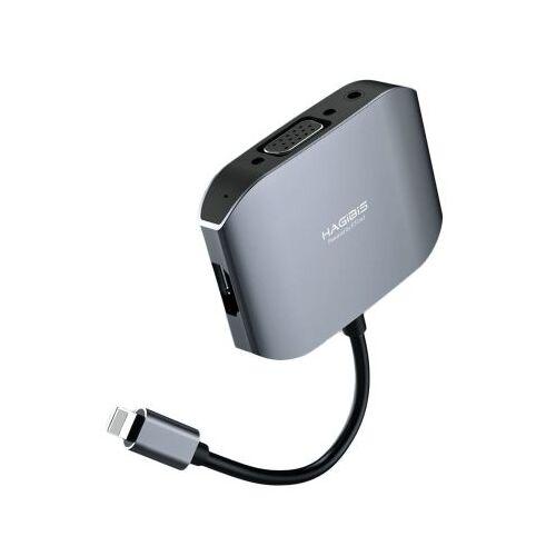 Hub chuyển đổi Lightning to HDMI, VGA, Audio HAGIBIS HAGF1901