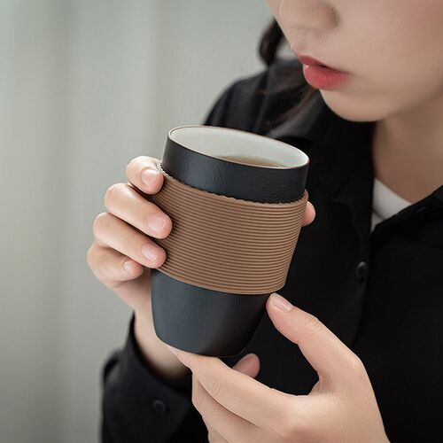 Cốc pha trà gốm sứ PINZTEA 230ml
