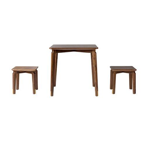 Bộ bàn ghế gỗ óc chó trẻ em TONGMUZHUYI