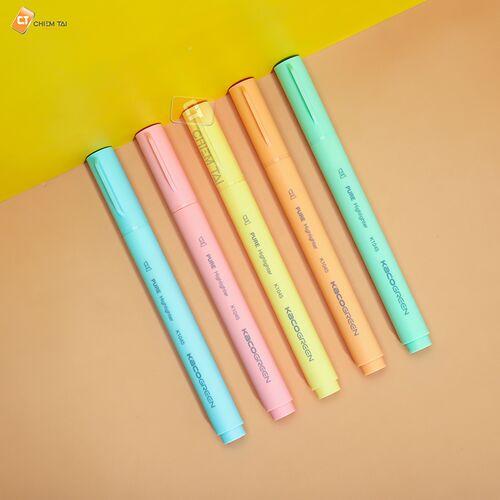 Bút highlight 5 màu KACO PURE